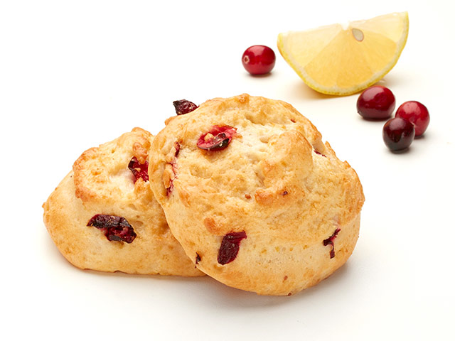 Lemon Cranberry Scone Beauty Shot