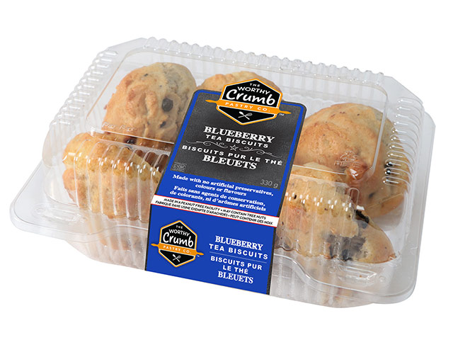 Blueberry Tea Biscuit Product Packaging