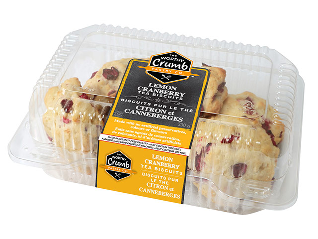 Lemon Cranberry Tea Biscuit Product Packaging