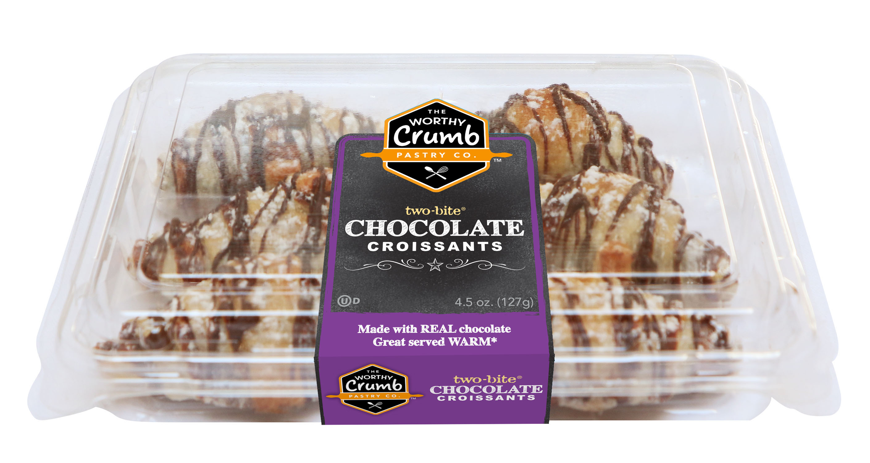 The Worthy Crumb Chocolate Croissants- 6 Pack