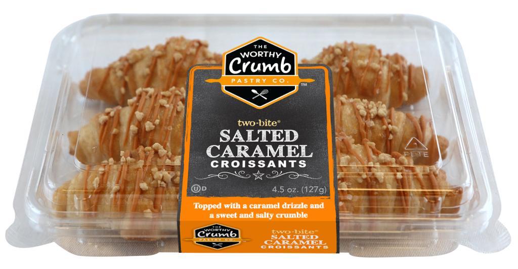 56106 - The Worthy Crumb Salted Caramel Croissants 6pk