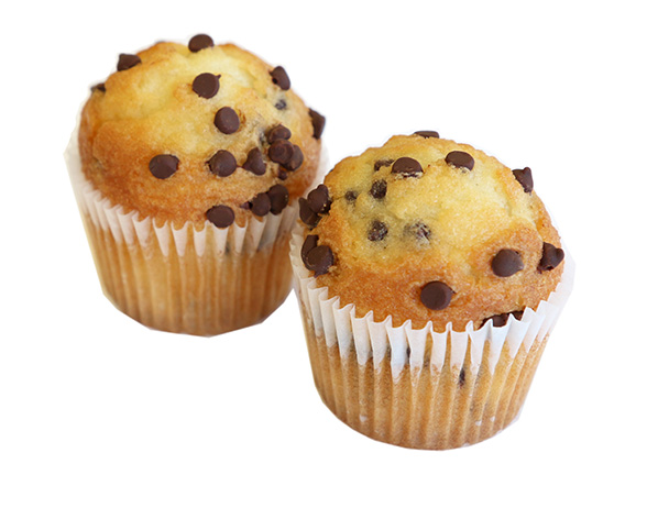 25104, 25204 TWC TB Chocolate Chip Muffins Individual